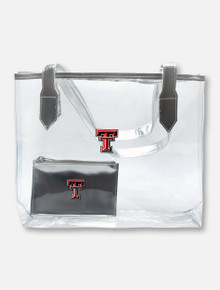 Texas Tech Red Raiders Double T Clear Stadium Tote with Privacy Pouch