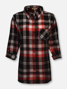 "UG Apparel Texas Tech Red Raiders ""Check"" Mini Double T Plaid  Button Up Shirt"