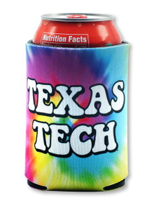 "Texas Tech Red Raiders ""Hippie"" Tie Dye Can Cooler"