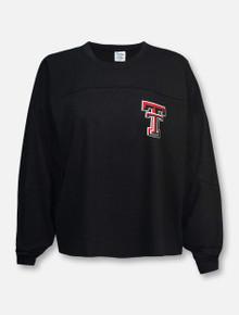 "Pressbox Texas Tech Red Raiders ""Fight Song"" Long Sleeve Crop Top"
