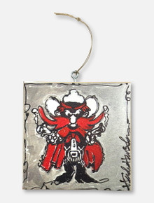 Texas Tech Red Raiders Raider Red Wood Ornament
