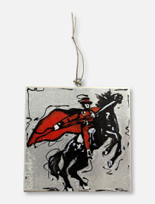 Texas Tech Red Raiders Masked Rider Wood Ornament