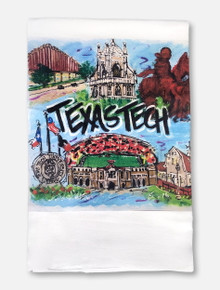 Texas Tech Red Raiders Football Field Collage Tea Towel