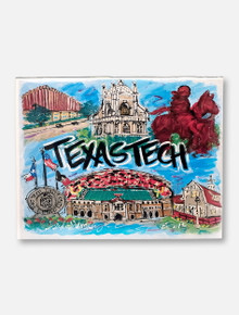 Texas Tech Red Raiders Traditions Collage 16x20 Print
