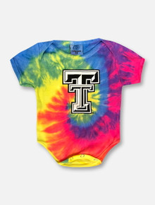 Texas Tech Red Raiders Black and White Double T Tie Dye INFANT Onesie