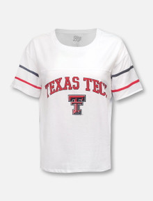 """Blue 84 Texas Tech Red Raiders """"Carly"""" Arch over Double T Crop Top"""