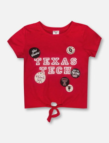 "ZooZatz Texas Tech Red Raiders ""Adore"" YOUTH Knotted T-Shirt"