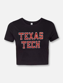 "Texas Tech Red Raiders ""Rugged Football"" Crop Top"