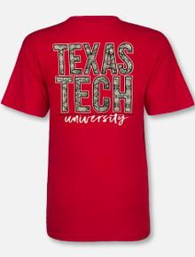 """Texas Tech Red Raiders """"Snakeskin"""" V Neck T-Shirt"""