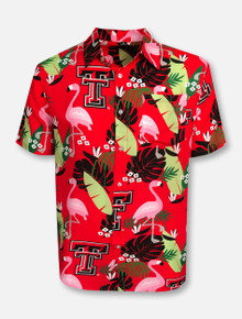 Texas Tech Red Raiders Double T Hawaiian Button Down