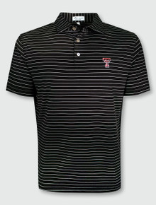 "Peter Millar Texas Tech Double T ""Trophy"" Striped Polo"