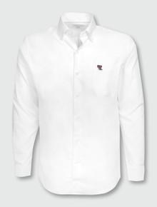 "Peter Millar Texas Tech Mini Double T on Pocket ""Crown Soft Pinpoint"" Long Sleeve Dress Shirt"