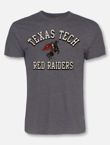 Retro Brand Texas Tech Red Raiders Arch Over Rearing Rider T-Shirt