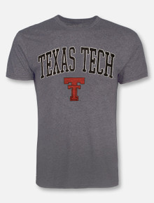 Retro Brand Texas Tech Red Raiders Arch Over Throwback Double T T-Shirt