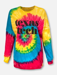 "Texas Tech Red Raiders ""Pristine"" Tie Dye Long Sleeve"