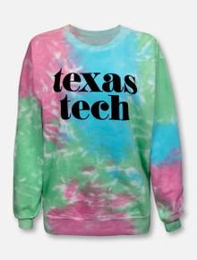 "Texas Tech Red Raiders ""Pristine"" Tie Dye Crew Sweatshirt"