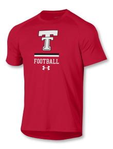"Under Armour Texas Tech Red Raiders ""Dominate"" Football Short Sleeve T-Shirt"