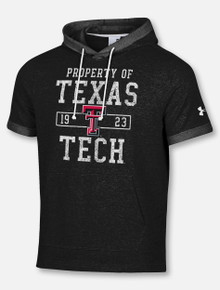 "Under Armour Texas Tech Red Raiders ""Gym Rat"" Sportstyle Terry Short Sleeve Hoodie"
