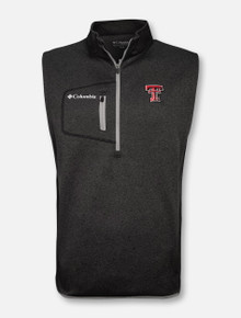"Columbia Texas Tech Red Raiders ""Omni-Wick Explorer"" 1/4 Zip Vest"