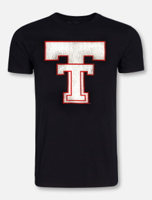 Retro Brand Texas Tech Red Raiders Large Throwback Double T T-Shirt