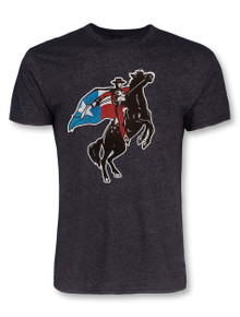 Texas Tech Red Raiders Large Texas Flag Rearing Rider T-Shirt
