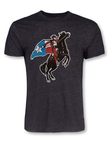 Texas Tech Red Raiders Large Texas Flag Rearing Rider T-Shirt
