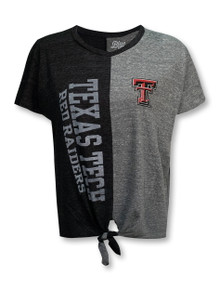 "Texas Tech Red Raiders Double T ""Fall of Troy"" Front Tie T-Shirt"