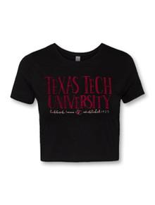 """Texas Tech Red Raiders Pride Logo """"Sketch Pad"""" Crop Top"""