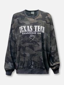 Texas Tech Red Raiders LivyLu Established Waffle Oversized Long Sleeve T-Shirt