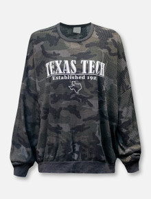 Texas Tech Red Raiders LivyLu Established Waffle Oversized Long Sleeve T-Shirt