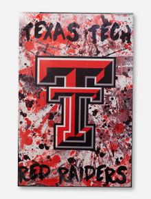 Texas Tech Double T on Graffiti Background Canvas 18 X 12 Print