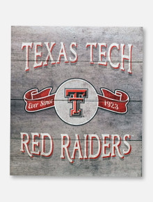 "Texas Tech Red Raiders ""Vintage Banner"" Pallet Sign"
