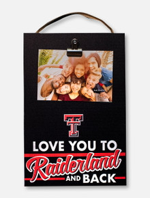 Texas Tech Red Raiders Raiderland Clip-It Wooden Photo Plaque