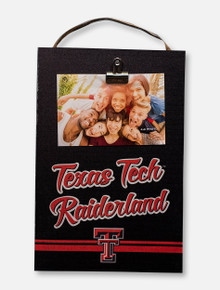 "Texas Tech Red Raiders ""Love You to Raiderland"" Wooden Hanging Clip Plaque"