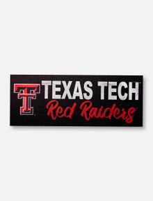 Texas Tech Red Raiders Horizontal Wooden Sign