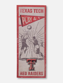 Texas Tech Red Raiders Double T Vintage Basketball 7x18 Plaque