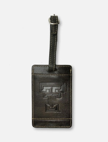 "Texas Tech Red Raiders ""Zulu""  Leather Luggage Tag"