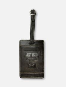 "Texas Tech Red Raiders ""Zulu""  Leather Luggage Tag"