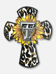 Texas Tech Red Raiders Sunflower and Cheetah Cross Decal