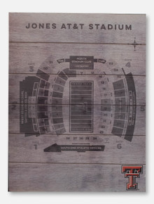 Texas Tech Red Raiders Double T Jones AT&T Stadium Seating Chart Pallet Sign