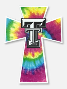 Texas Tech Red Raiders Tie Dye Cross Decal