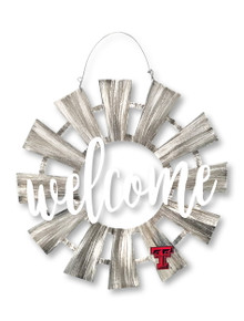 "Texas Tech Red Raiders ""Welcome"" Windmill Metal Wall Art"