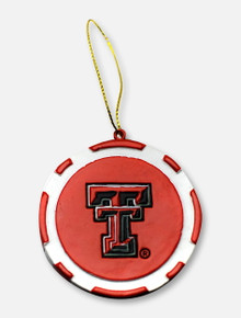 Texas Tech Red Raiders Wreck 'Em Check Poker Chip Ornament
