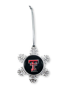 Texas Tech Red Raiders Double T Snowflake with Epoxy Dome
