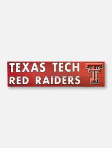 Texas Tech Red Raiders Double T 35 x 10 Indoor/Outdoor Wooden Sign
