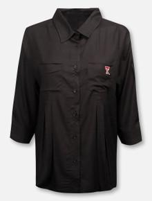 UG Apparel Texas Tech Red Raiders Women's Front Pleated Button Down Dress Shirt