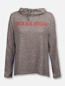 "ZooZatz Texas Tech Red Raiders ""Stadium Swirl"" Cowl Neck Split Back Pullover"