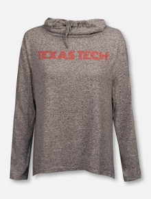 "ZooZatz Texas Tech Red Raiders ""Stadium Swirl"" Cowl Neck Split Back Pullover"