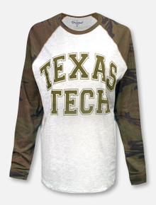League Texas Tech Stack Camo Raglan Long Sleeve T-Shirt