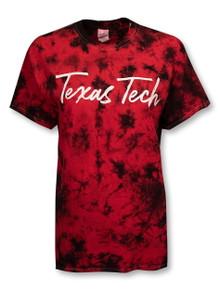 "Texas Tech Red Raiders ""Brush Stroke"" Script Tie Dye T-Shirt"